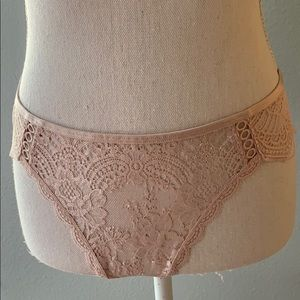 NWT Large Victoria's Secret Shimmering Pink Panty